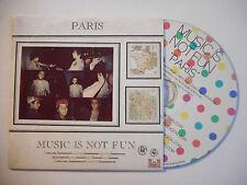 MUSIC IS NOT FUN : PARIS ♦ CD SINGLE PORT GRATUIT ♦