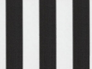 White Light Black 600 Denier Striped Waterproof Outdoor Fabric