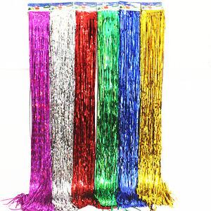 Image Is Loading Shimmer Door Curtain Amp Fringe Garlands Foil Curtains
