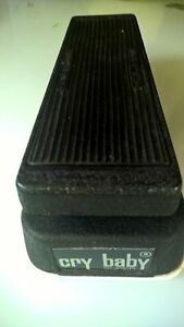 JEN-CRY-BABY-SUPER-WAH-pedal-made-in-italy-RARE-GREEN-FASEL-inductor-vintage