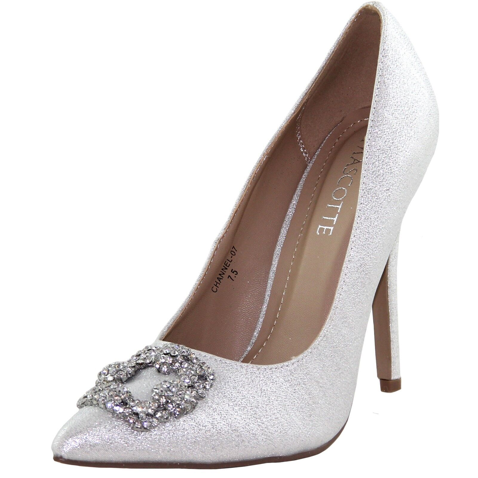 New women's shoes evening stilettos blink rhinestones prom wedding party silver