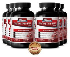 Creatine Monohydrate - Creatine Tri-Phase 5000 mg - Increase Power Pills 6B