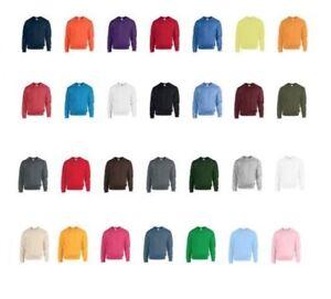 Gildan-Men-039-s-Plain-Sweatshirt-Cotton-Heavy-Blend-Adults-Crew-Round-Neck-Sweater