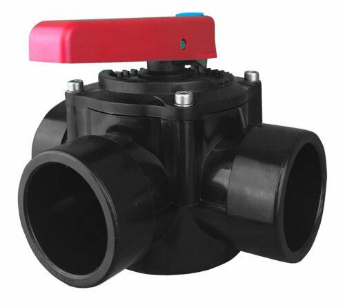 Well 2 Wellness ® PVC 3 vie rubinetto CILINDRO VALVOLA piattaforme girevoli 50mm-VALVOLA RUBINETTO