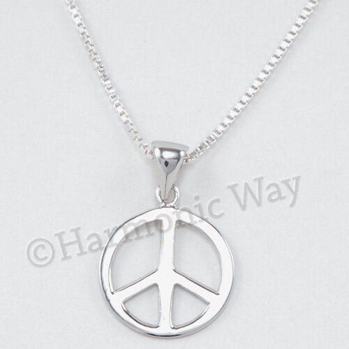 STERLING SILVER CHARM Symbol PEACE SIGN