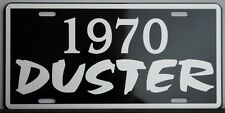 1970 70 DUSTER METAL LICENSE PLATE PLYMOUTH A BODY SLANT SIX 318 340 360 440