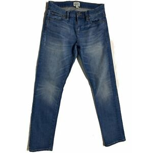 J-Crew-Women-039-s-Jeans-Slim-Broken-In-Boyfriend-Medium-Wash-Stretch-Size-25