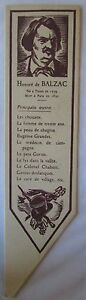 Antique-Brand-Pages-Bookmark-Advertising-Literature-Honore-de-Balzac-Ltd-1