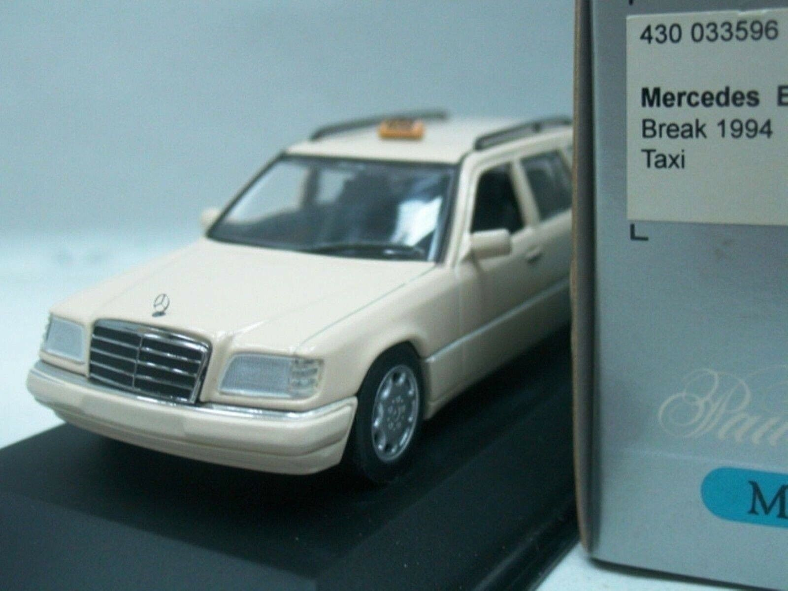 Wow extremadonnate raro Mercedes W124 220TD Break Taxi 1 43 Minichamps - 300 450 560 E9