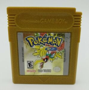 Pokemon: Gold Version - Game Boy Color GBC - Authentic OEM & New Save Battery