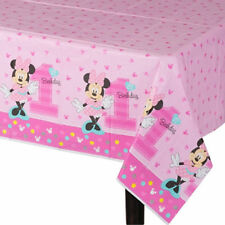 "Disney Minnie Mouse 1st / First Birthday Table Cover *New Design* 54"" x 96"""