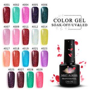MEET-ACROSS-UV-Gel-Nail-Polish-LED-Soak-Off-Glitter-Sequins-Tips-Gel-Varnish-7ml