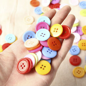 100Pcs-20mm-4-Holes-Round-Plastic-Sewing-Buttons-Scrapbooking-Sewing-Craft