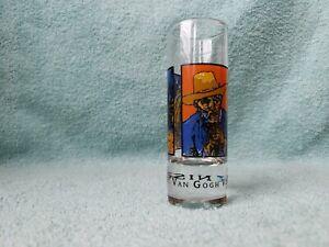 """Van Gogh Vodka Martini. Demand It. Shot Glass 4 1/4"""" tall"""