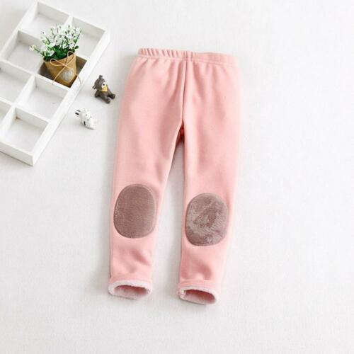 Toddler Kid Girl Baby Cotton Pants Winter Warm Thick Lined Stretch Long Trousers