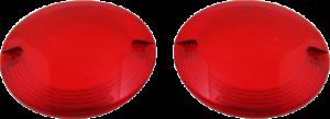 Custom Dynamics Probeam Pair Red Turn Signal Flat Lens for Harley Davivdson