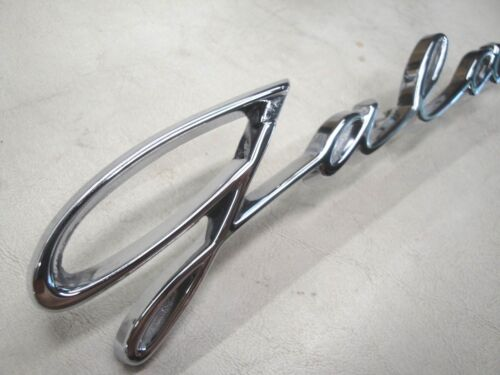 1959 59 FORD GALAXIE CHROME SCRIPT FOR THE REAR QUARTER  PANEL NEW
