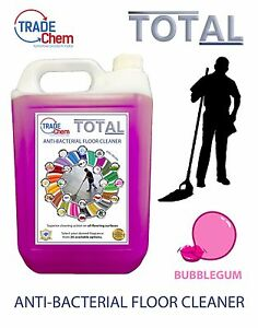 FLOOR-CLEANER-5L-TOTAL-Anti-Bacterial-Bubblegum-Scented-TRADE-Chem