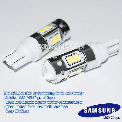 2 pcs 11W 6000k White 921 T10 T15 Back up Reverse LED Light Bulbs Projector Lens