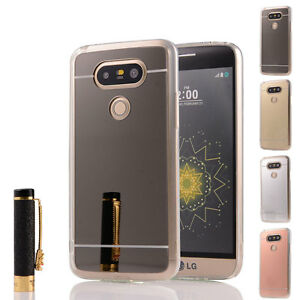 big sale 2ada0 3ad06 Details about Luxury Ultra-Slim Mirror Silicone Gel TPU Protective Case  Skin Cover For LG G5