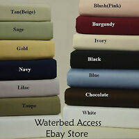 Queen 100% Cotton Waterbed Sheets Made In The Usa