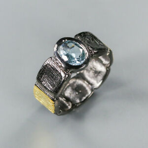 Blue Topaz Ring 925 Sterling Silver Size 9 /RT20-0032