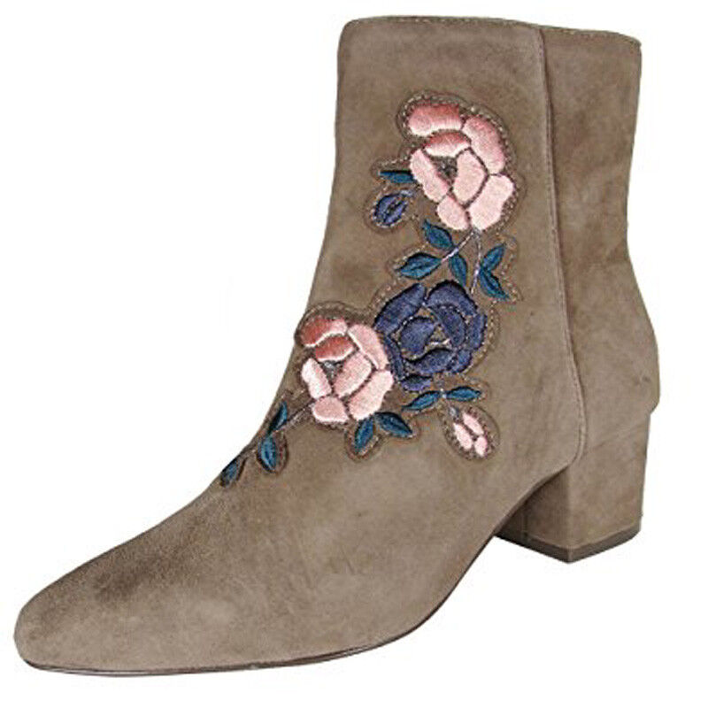New STEVEN by Steve Madden Women brooker Floral Ankle Boot shoes