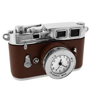 CAMERA-35MM-MINIATURE-VINTAGE-STYLE-PHOTOGRAPHY-COLLECTIBLE-MINI-CLOCK