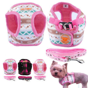 Cute-Small-Dog-Harness-and-Leash-set-Soft-Vest-for-Chihuahua-Yorkie-Puppy-Pink
