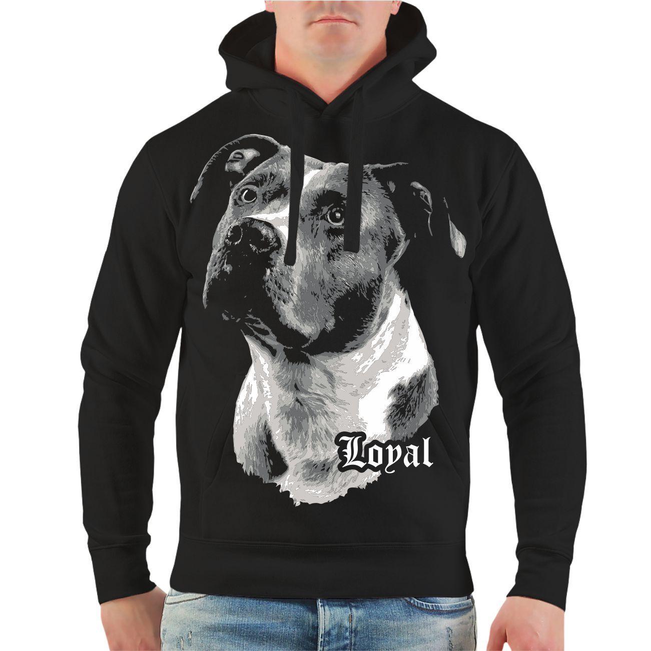 Kapuzenpullover American Staffordshire Terrier treuer Freund Loyal SpruchHoodie