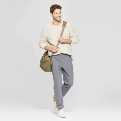Goodfellow /& Co Mens Straight Fit Hennepin Chino Pants Thundering Gray 40x32