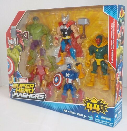 Marvel Super Hero Mashers AVENGERS /& BLACK PANTHER 5 Pack Figure Sets NISB