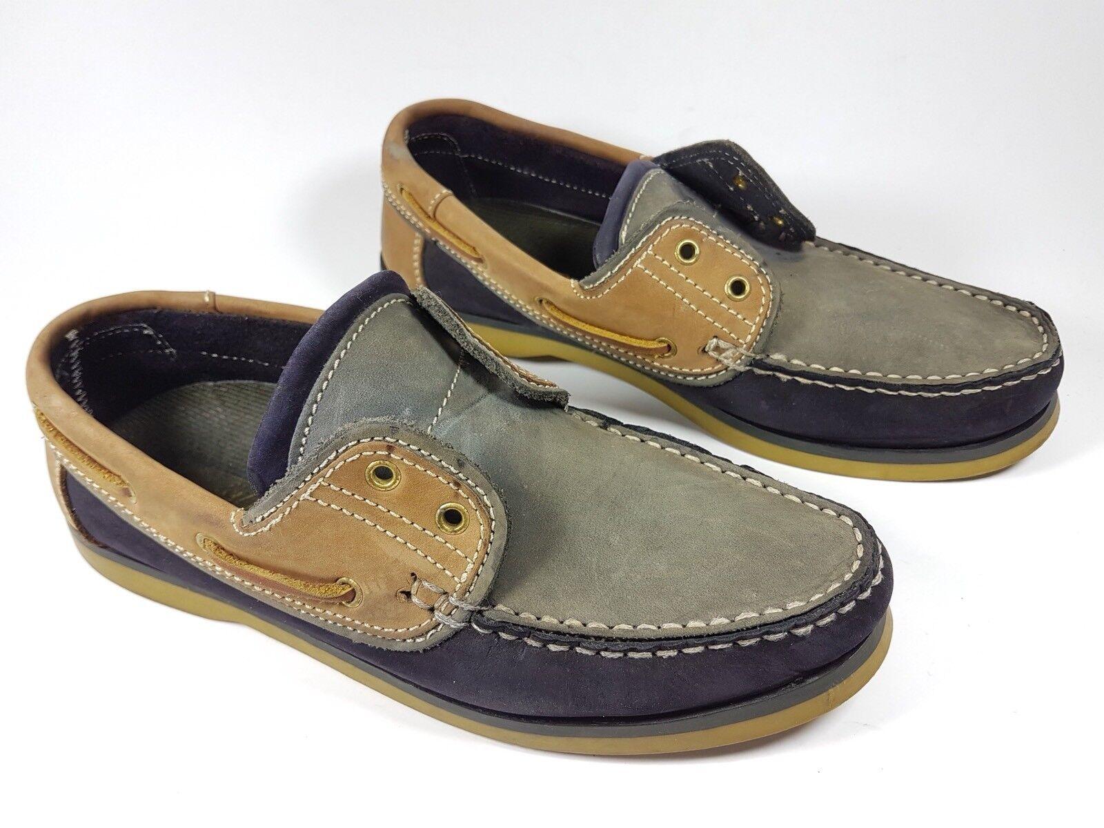 Multi tone leather 'comfy fit' 40 boat shoes eu 40 fit' d5ad43