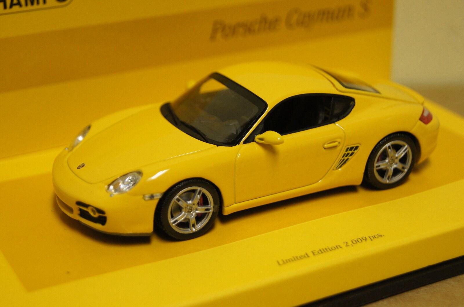 Porsche Cayman s (987) 2005 jaune 1 43 MINICHAMPS NEUF & OVP 436065620