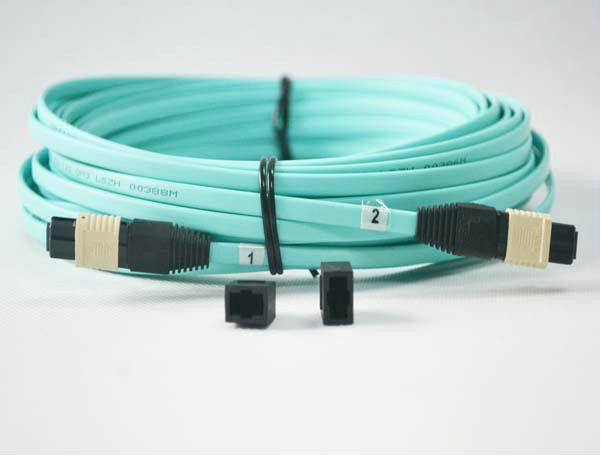 Female OM4 Fiber Optic Patch Cord Cable for QSFP+SR4 3Meters 8 Strand MTP MPO
