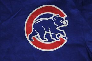 Majestic-Chicago-Cubs-Baseball-TEE-T-SHIRT-Youth-XL-Extra-large