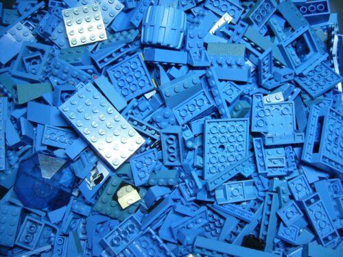 Lego 500 gramm Bausteine,kleine Platten und Zubehör in blau