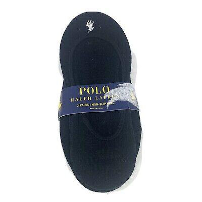 NEW Ralph Lauren Polo 3 Pair Non-Slip Heel Socks No Show