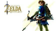 POSTER ZELDA BREATH OF THE WILD LEGEND OF GAME VIDEOGAME LINK EPONA FOTO #3