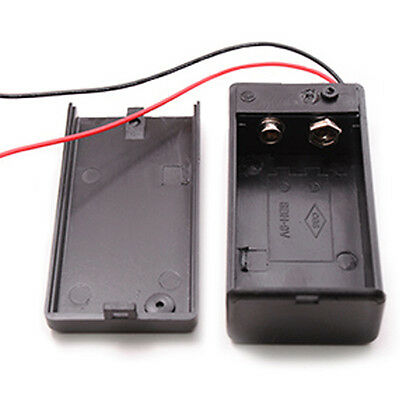 1 x 9V Volt PP3 Battery Holder Box DC Case With Wire Lead ON/OFF Power Switch