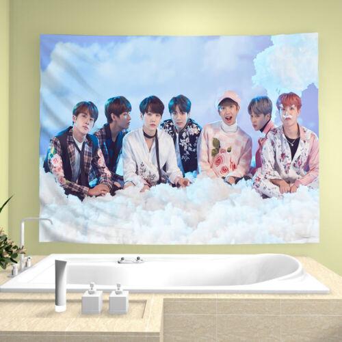 "Kpop BTS Tapestry Bangtan Boys Art Poster Wall Hanging Decor 51/"" x 59/"" Fans Gift"