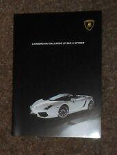 Lamborghini Gallardo LP560-4 Spyder Brochure 2008