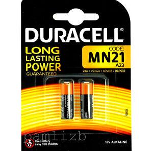 Duracell A23 12v  MN21 GP23A V23GA 3LR50  Alkaline batteries  2 off  battery