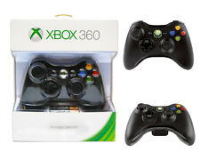 GAMEPAD JOYPAD CONTROLLER XBOX 360 WIRELESS ORIGINALE MICROSOFT NERO