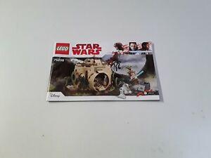 Avoir Un Esprit De Recherche Lego!!! Instructions Only!!! Pour Starwars 75208 Yoda's Hut-afficher Le Titre D'origine Des Biens De Chaque Description Sont Disponibles