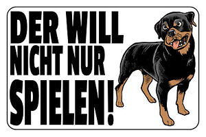 Not Only Games Rottweiler Tin Sign Shield Metal 20 X 30 CM W1243