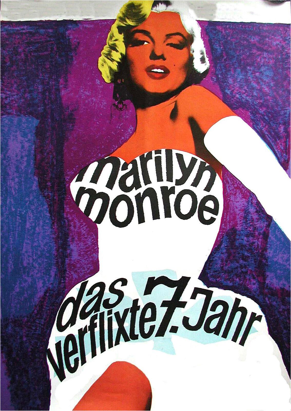A0 Canvas street  Art graffiti print  vintage  marilyn monroe pop art painting