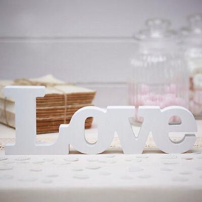 """Aufsteller """"LOVE"""" aus Holz in weiß- Buchstaben,Hochzeit,Saaldeko,Tischdeko"""