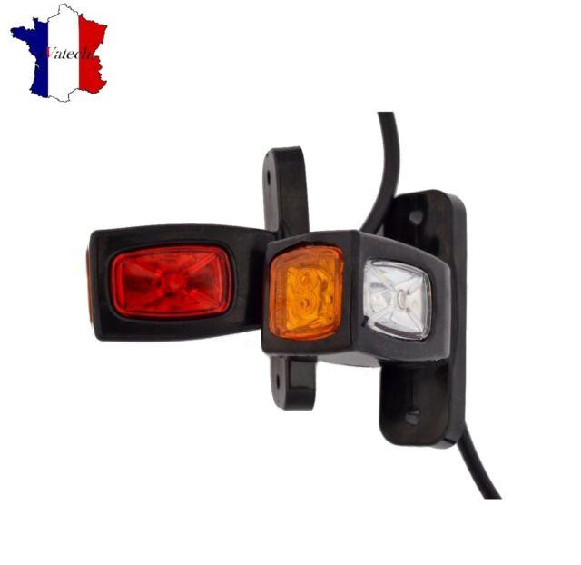 4 X 12V 24V LED FEUX DE GABARIT ROUGE ORANGE BLANC CAMION REMORQUE BUS CHASSIS
