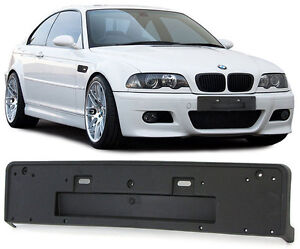 FRONT BUMPER NUMBER LICENSE PLATE HOLDER FOR BMW E46 3 SERIES M3 M